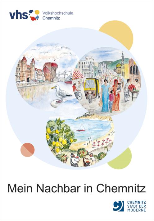 """Titelgestaltung Lehrbuch """"Mein Nachbar in Chemnitz"""""""